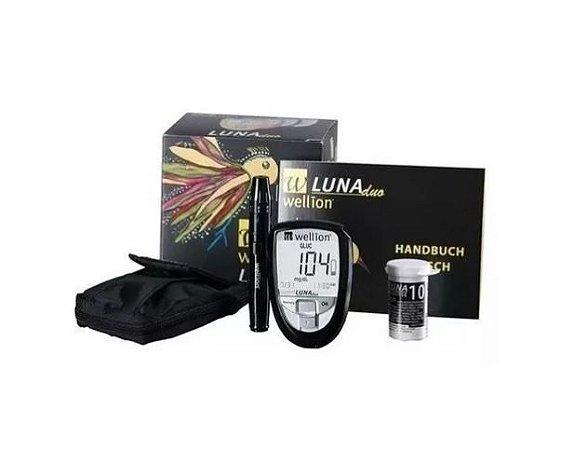 Monitor Luna Duo Wellion +20 Tiras Teste Colesterol Promoção