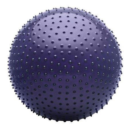 Bola De Massagem Roxa Fitness 65 Cm Com Inflator Hidrolight