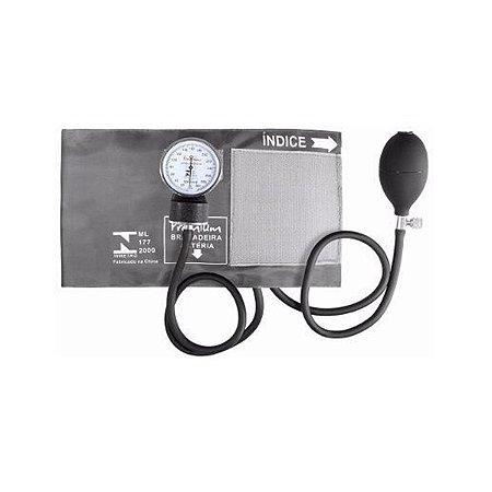 Aparelho Medidor De Pressão Esfigmomanômetro Premium - Grafite
