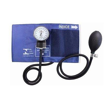 Aparelho Medidor De Pressão Esfigmomanômetro Premium - Azul
