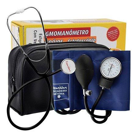Esfigmomanômetro E Estetoscópio Simples Premium - Enfermagem