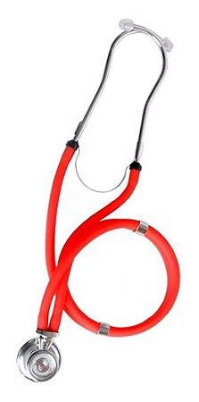 Estetoscópio Premium Rappaport Adulto E Infantil - Vermelho
