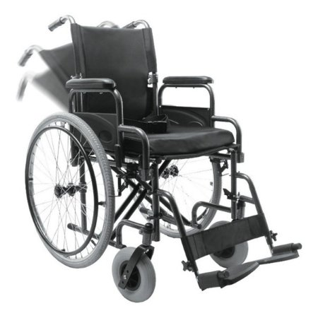 Cadeira De Rodas Adulto Em Aço Dobrável D400 Dellamed
