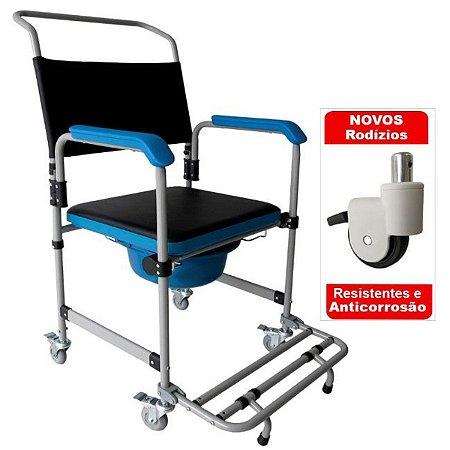Cadeira De Banho Higienica Dobravel Aço150 Kg Dellamed D50