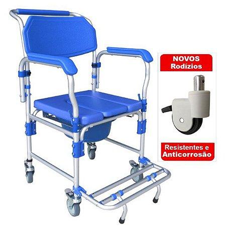Cadeira De Banho Adulto Aluminio Dobravel 150kg D60 Dellamed