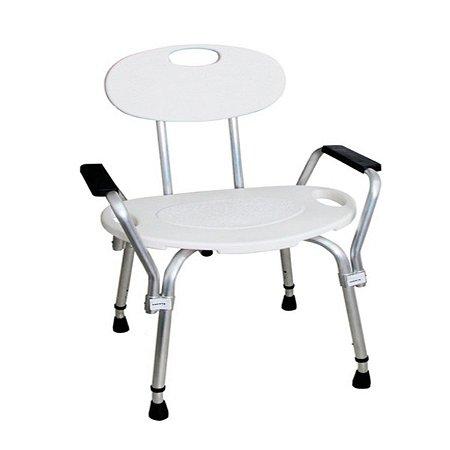 Cadeira De Banho Com Encosto E Braços Banqueta Dellamed D3