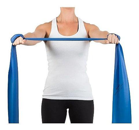 Faixa Elástica Para Exercícios Azul Extra Forte 1,5m Mercur