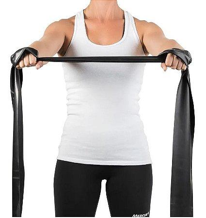 Faixa Elástica Para Exercícios Preta Forte 1,5m - Mercur