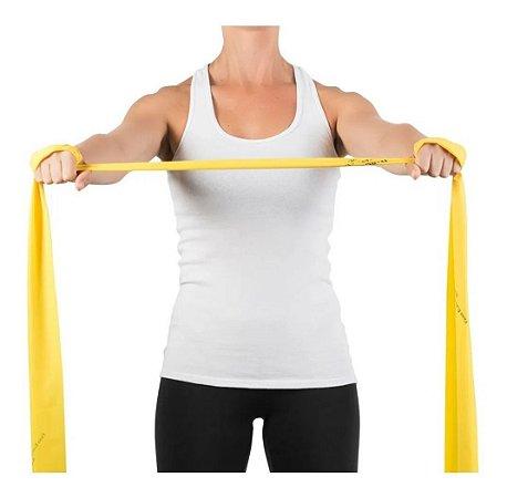 Faixa Elástica Para Exercícios Suave Amarela 1.5 M - Mercur