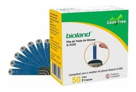 Fita Teste Glicose Code Free Com 50 Tiras Bioland