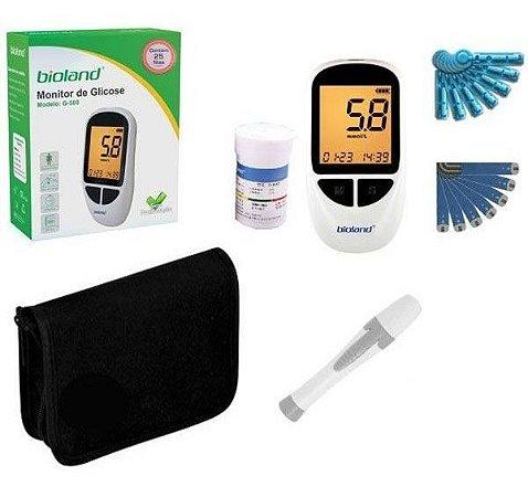 Kit Completo Medidor Glicose Bioland G500