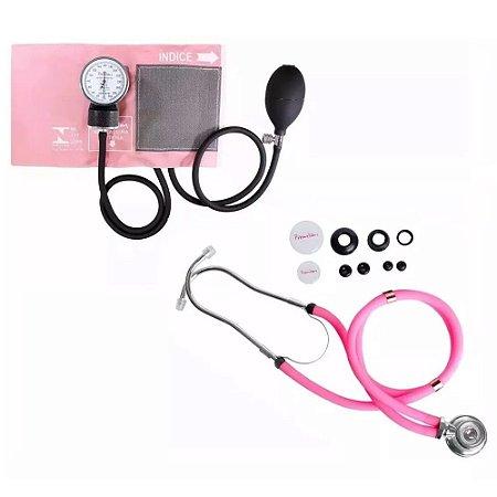 Esfigmomanômetro E Estetoscópio Premium Rappaport - Rosa