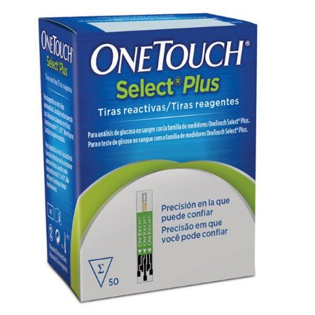 Tiras Reagentes Glicemia One Touch Select Plus - 50 unidades