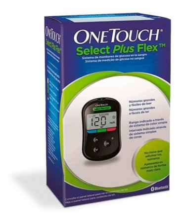 Aparelho Medidor Glicose Onetouch Select Plus Flex Completo