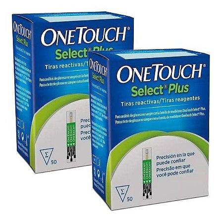 Kit Tiras Reagentes Glicemia One Touch Select Plus 100 unidades
