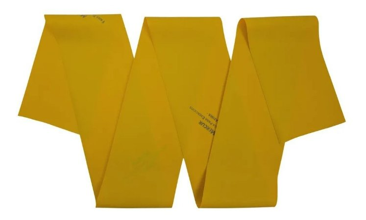 Faixa Elástica Para Exercícios Máxima Dourada 1,5m - Mercur