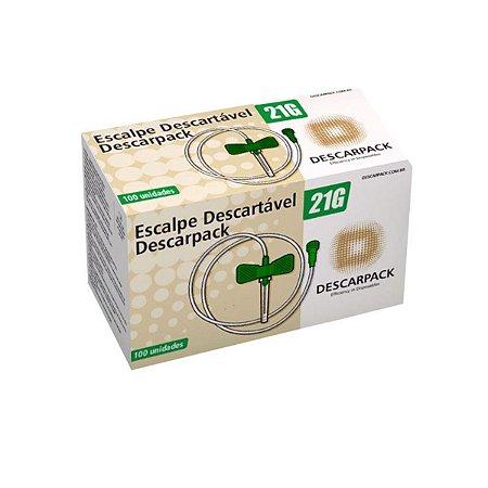 Escalpe Descartável Estéril Scalp 21g Descarpack - 100 Und