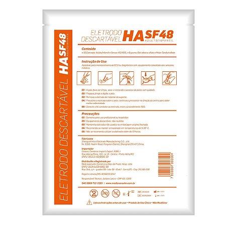 Eletrodo Descartável Ecg Adulto Infantil HA SF48 - 50 unidades