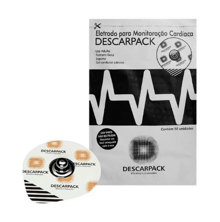 Eletrodo Descartável Ecg Gel Adulto Descarpack - 50uni