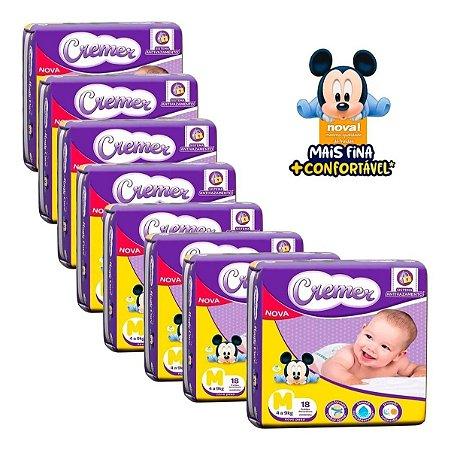 Fralda Cremer Disney Baby Jumbinho M 18un - Fardo 08 Pacotes