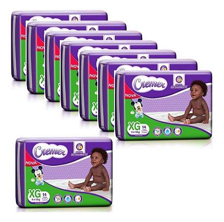 Fralda Cremer Disney Baby Jumbinho Xg 14un - Fardo 8 Pacotes