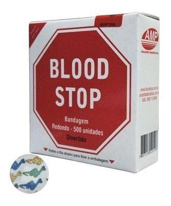Curativo Redondo Bandagem Blood Stop Divertido 500 Unidades