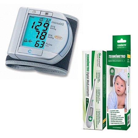 Aparelho De Pressão Digital Microlife E Termometro Digital