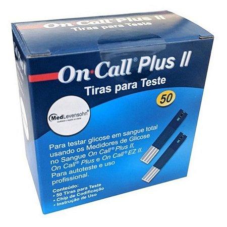 Kit 350 Tiras Medir Glicose On Call Plus Ii Chip Codificador