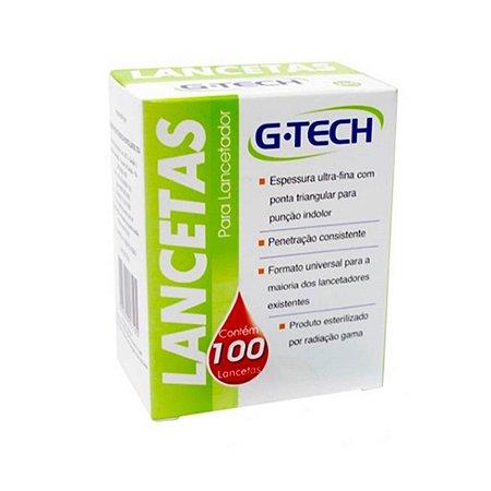 Lancetas Glicose G-Tech 100 Unidades 30g