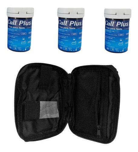 Kit 150 Tiras Reagentes On Call Plus 2 Chip - Estojo Brinde