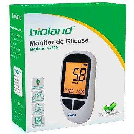 Kit Glicosimetro Bioland 25 Tiras + 25 Lancetas + Lancetador