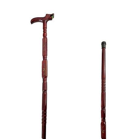 Bengala Bastão De Madeira Tradicional T Adulto Decorada - AK