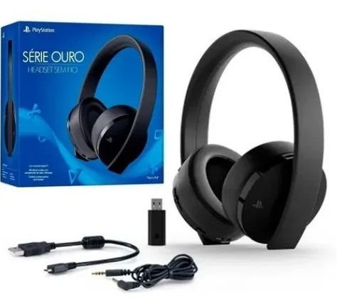 Fone Headset Wireless Stereo Sony 7.1 - Série Ouro - New Gold ps4