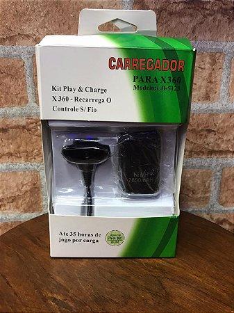 bateria e carregador de controle xbox 360