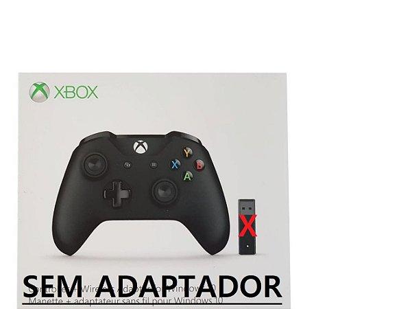 Controle Xbox One S Bluetooth Sem Fio Conector P2 Preto - Microsoft - sem adaptador