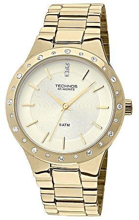 Relógio Technos Feminino Elegance St. Moritz 2035GGA/4X