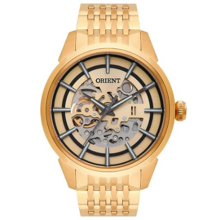 Relógio Orient Masculino Esqueleto Automático NH7GP001 C1KX