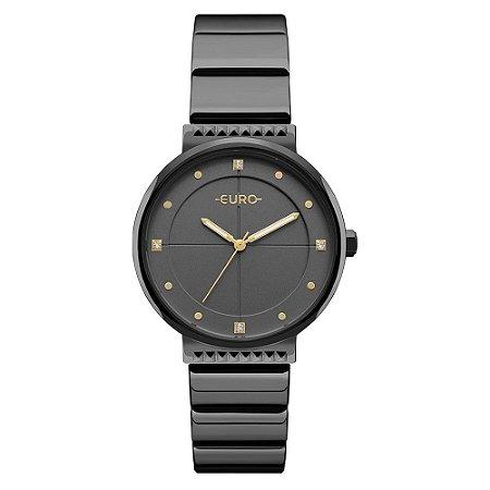 Relógio Euro Feminino Spike Preto EU2035YOB/4P