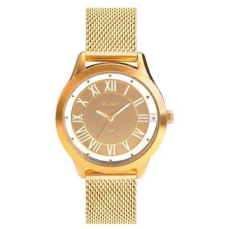 """Relógio Euro Feminino """"Ouse Ser Você Mesma"""" Dourado EU2039JH/4D"""
