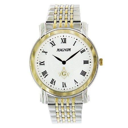 Relógio Magnum Masculino Maçonaria MA21866S