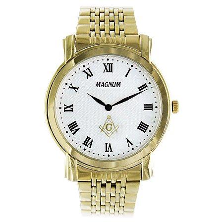 Relógio Magnum Masculino Maçonaria MA21866H