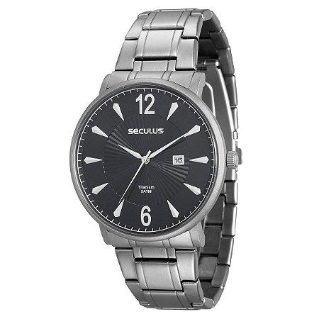 Relógio Seculus Masculino Titanium 20531G0SVNT1