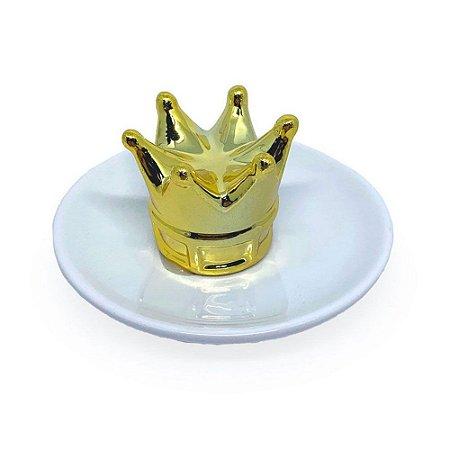 Adorno Porta Jóias Coroa - Dourado