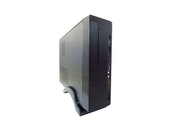 Gabinete K-Mex Slim Micro ATX GM-07T7 Preto Piano 2xUSB 2.0 Fonte PB 200W C/Cabo