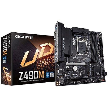 PLACA MAE INTEL GIGABYTE Z490M 10 DDR4 LGA 1200 10 GERACAO
