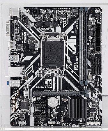 PLACA MÃE MICRO ATX PCWARE INTEL IPMH310G - LGA 1151 - 8ª E 9ª GERAÇÃO VGA/HDMI/USB 3.0