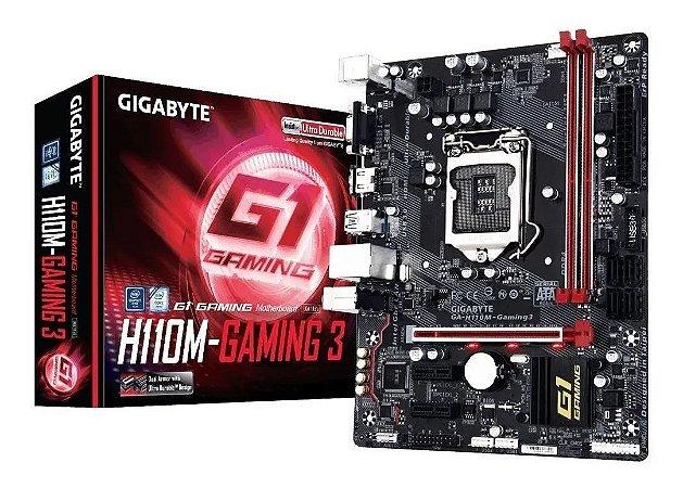 PLACA MAE GIGABYTE GA-H110M-GAMING 3 - DDR4 - SKYLAKE