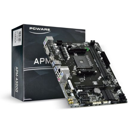 Placa Mae PcWare AMD A320 (AM4/DDR4/VGA/HDMI/PCI/USB 3)