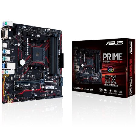 Placa Mae Asus Gaming AMD AM4 DDR4 mATX  (PRIME B450M-GAMING-90MB10H0-C1BAY0)