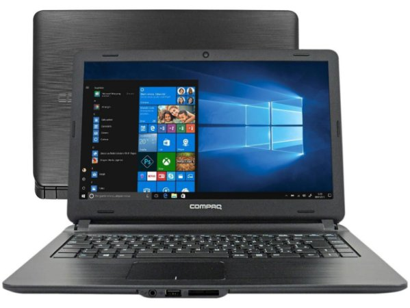"Notebook Compaq Presário CQ-21N Intel Core i3 - 4GB 500GB 14"" Windows 10"